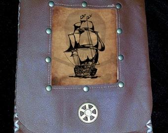 Leather Hip/Belt Pouch Pirate Steampunk Edwardian renaissance faire