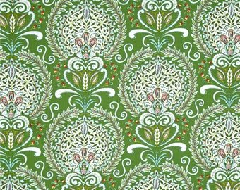 Sale ~ By the Yard ~ Merry Mistletoe Peyton Green ~ Merry Mistletoe Collection ~ Dena Designs for Free Spirit Fabrics