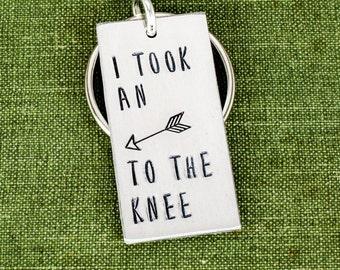 I Took an Arrow to the Knee Keychain