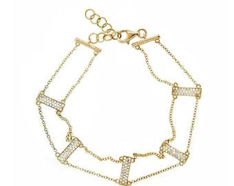Diamond Pave Ladder Bracelet [ON SALE]