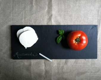 """Slate Cheese Board Serving Board 14"""" x 6"""" with soapstone"""