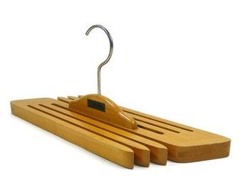 Wooden Pant Hanger Slacks Hanger Scarf Hanger Neck Tie Hanger by Slak Rak Closet Organizer