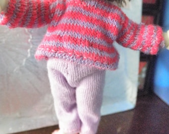 Real Puki outfit Pink & Purple stripes OOAK