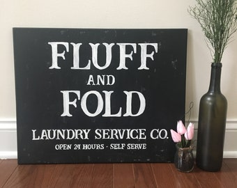 16x20 Canvas Laundry Sign