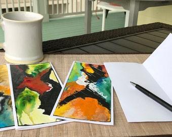 Original Abstract Art Notecards