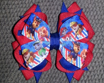Paw Patrol Handmade Stacked Boutique Bow