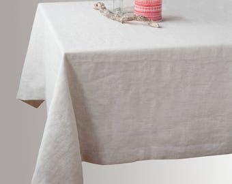 Rustic linen tablecloth Wedding tablecloth Unique dinner tablecloth Linen table décor Rustic grey linen Natural flax grey linen Undyed linen