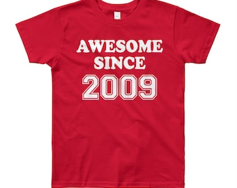 Awesome Since 2009, 9th Birthday T-Shirt Nine Year Old Boy Birthday Shirt 9th Birthday Boy T-Shirt