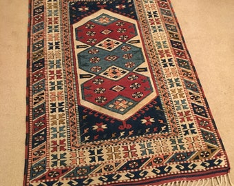 Antique Hand Knotted Turkish Rug