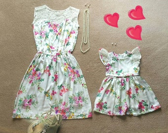 30 - Mother daughter dresses / Mommy and Me Dresses | Matching Mother Daughter Dresses/ Mother Daughter Matching / mommy & me