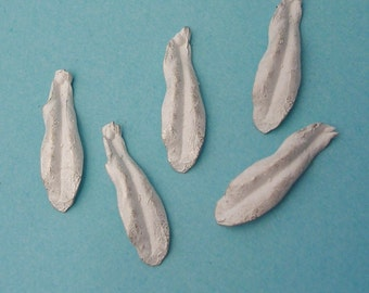 cast leaves sterling silver leaf casting raw silver cast findings UL023-5