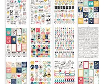 Faith Carpe Diem Stickers Tablet 703/Pkg 12 Sheets Simple Stories (8906)
