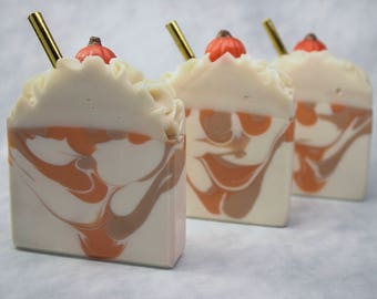 Soap Bar - Pumpkin Soap - Coconut Oil Soap - Pumpkin Soap - Fall Soap - Luxury Soap - Bar Soap - Hostess Gift - Cold Process Soap