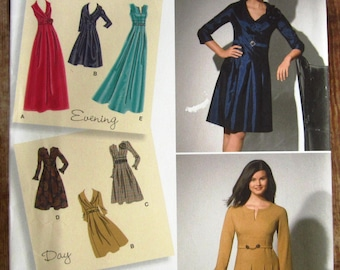 Misses Dress in Two Lengths with Sleeve Variations Sizes 10 12 14 16 18 Simplicity Pattern 2338 UNCUT