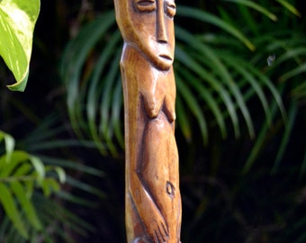 "TIMOR Indonesian Bone Tribal Sculpture Organic Effigy 8 3/8"" tall"