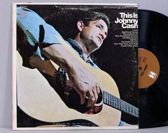 Johnny Cash - This Is Johnny Cash - Vinyl LP Record Album 1969 Compilation