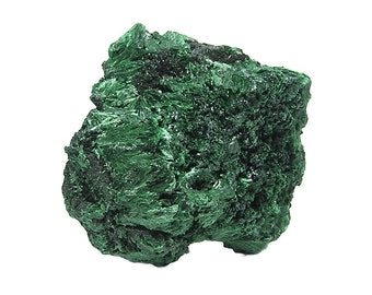 Malachite Green Fibrous Acicular Needle Crystal Sprays Copper Mineral Specimen African Crystalline Geo Sample, Primary Malachite