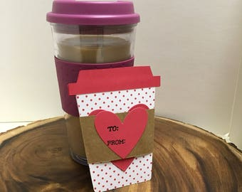 Valentine's Day gift, coffee gift card holder, unique gift card holder, coffee lover, tea lover, teacher gift, galentine's day , teen gift