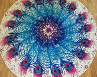 Peacock feather tapestry