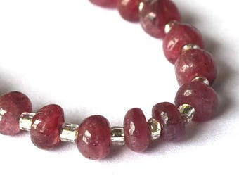 Beautiful set of 5 3.5 to 4mm Ruby