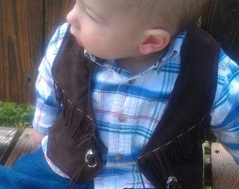 infant, baby, toddler western vest/ cowboy cowgirl vest, western wear,rodeo, cowboy costume western wedding cowboy birthday cowgirl birthday