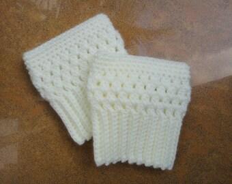 Wide Calf Chunky Crochet Womens Boot Cuffs Leg Warmers