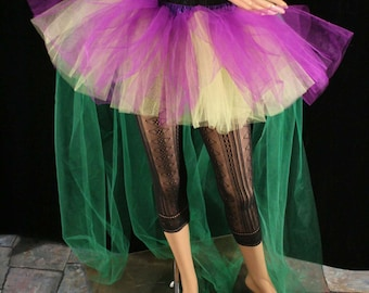 Mardi Gras bustle tutu skirt extra poofy Adult halloween costume dance gothic prom bridal carnival --You Choose Size - Sisters Of the Moon