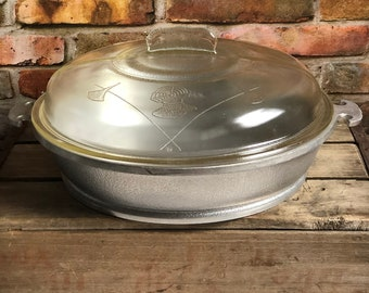 "Vintage Guardian Service Aluminum Cookware 12"" Chicken Fryer Skillet & Glass Lid"