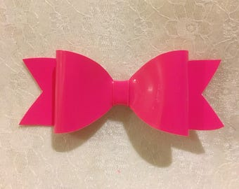 Pink Patent Hair Bow