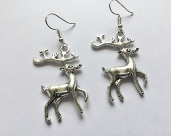 Reindeer Earrings, Reindeer Jewellery, Christmas Earrings, Christmas Jewellery, Reindeer Lover, Winter Earrings, Birthday Gift, Stockings