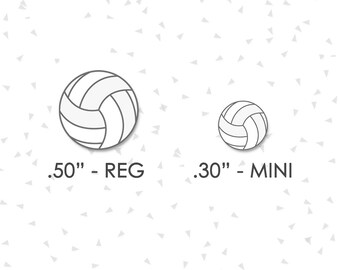 "Volleyball Stickers |  2 Sizes | .30"" & .50"" 