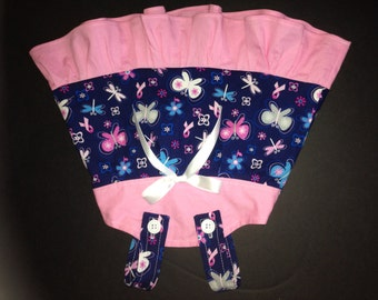 Pink Ribbon Breast Cancer Awareness Butterflies BCA  Baby Infant Toddler Girls Dress  You Pick Size