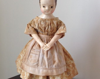 "The Little Hamptons dress  PDF pattern to fit 16 -17"" Izannah Walker  reproduction or style dolls"