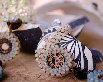 Apocalypto Swarovski Crystal and Walnut Necklace