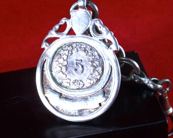 Chateleine with coin - silver - for pocket watch