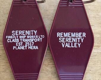 """FIREFLY inspired """"Serenity"""" keytag"""