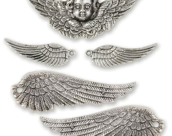 Wings & Cherub Charm Set (STEAM026)