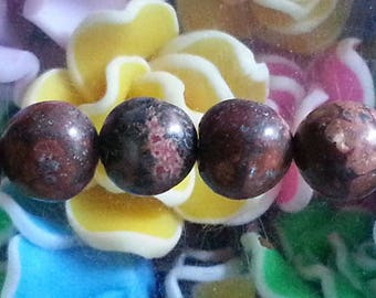 5 8mm diameter, hole 1 Leopard skin Jasper beads mm