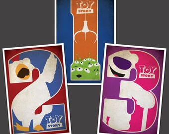 Toy Story Poster Collection - All 3 Films (Multiple Sizes)