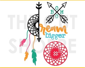 The Boho Chic cut file consists of 3 bohemian inspired designs that can be used for your scrapbooking and papercrafting projects.