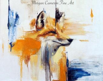 PRINT, fox print, painting print, animal print, fox art, fox painting, art print, abstract art, abstract fox, animal art, animal print