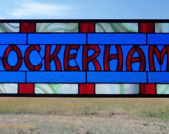 Custom Stained Glass Wedding Gift, Third Anniversary Present, Family Name Signage
