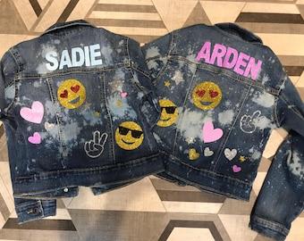 Jean Jacket, Denim Jacket, Personalized Girls Denim Jacket, Personalized Toddler Girls Jean Jacket, Custom, Toddler Girls