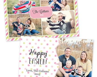 Personalized Photo Collage Easter Card - Digital File