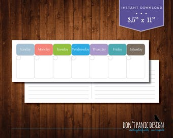 Weekly Appointment Planner Calendar - Modern Daily Appointment Planner - Instant Download Planner Calendar