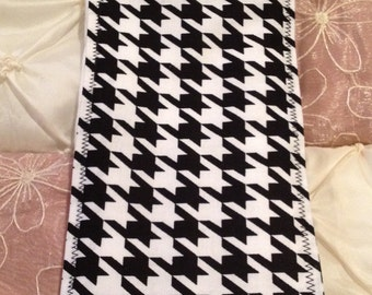 CUTE ALABAMA HOUNDSTOOTH Baby Burp Cloth Boutique Style 6-ply Houndstooth Crimson Red Roll Tide Football Gray