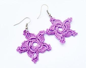 PDF Tutorial Crochet Pattern...Dangle Earrings -2