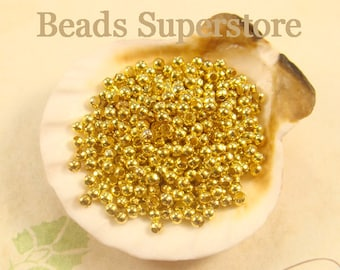 FINAL SALE 2.2 mm Gold-Plated Round Bead - Nickel Free and Lead Free - 200 pcs
