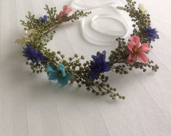 Flower Girl Bridal Floral Crown Bridal Flower Girl Crown Wedding Headpiece