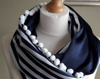Loop scarf infinity scarf circular satin fabric unique gift